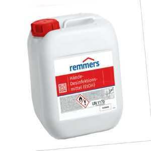 5 L REMMERS 85% Ethanol Handdesinfektion Hände-Desinfektionsmittel (EtOH) Viren