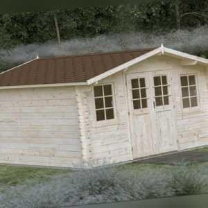 44mm Gartenhaus Aktion G8 Gerätehaus ca. 5x4m + Profi Metalldach AquaRoofy Blech