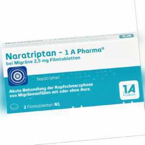 Naratriptan - 1 A Pharma bei Migräne 2,5 mg Filmta, 2 St. Tabletten 9322478