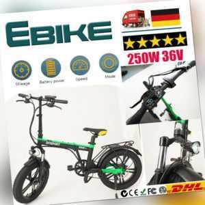 Falten fetter Reifen Elektrofahrrad Mountain E-Bike Faltbar Citybike Bicycle u
