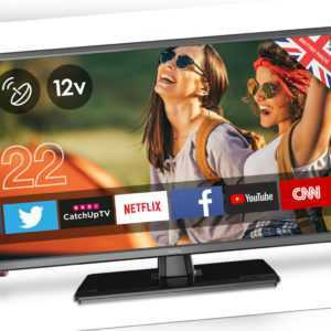 "22"" Zoll Cello LED TV Traveller HD Fernseher ✔DVB-C/-S2/-T2 ✔SMART ✔USB ✔12V&220"