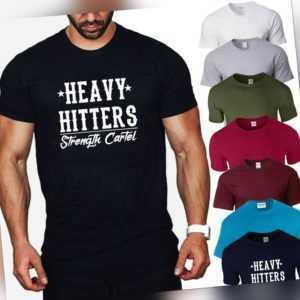 Heavy Hitters Strength Cartel T shirt Big Boi GYM Training Workout Men's S - 4XL