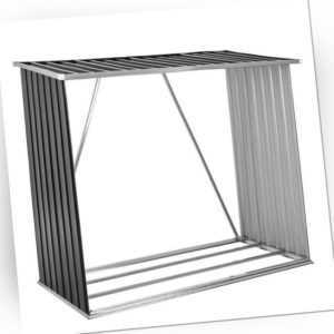 Unterstand Holz Brennholz anthrazit Kaminholzunterstand Aufbewahrung Metall