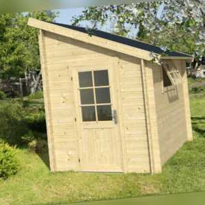 Anbauschuppen Jura Gerätehaus Holzhaus Schuppen 200 x 295 cm 28 mm Holz Neu
