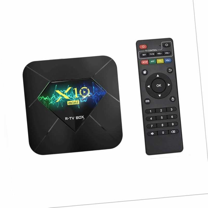 X10mini Android 10.0 TV Box QuadCore WiFi Media 4K STB BT 1+8GB 2.4G WiFi F2O8