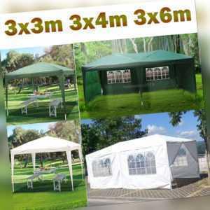 Pavillon Garten Party Camping Fest Eventzelt Bier mit Seitenteile 3x3m 3x4m 3X6m
