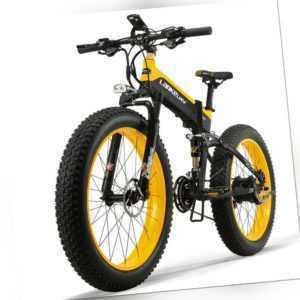 26 Zoll Faltbares Elektrofahrrad E-Bike Electric Mountainbike 500W 40km/h 12.8AH