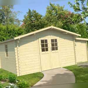 44 mm Gartenhaus + ANBAU 400x300 cm Gerätehaus Holzhaus Holzhütte Holz NEU