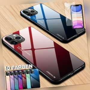 Hülle für iPhone 12 11 Xs 8 7 6 Schutz Case 360° Cover 9H Schutzglas Panzerfolie
