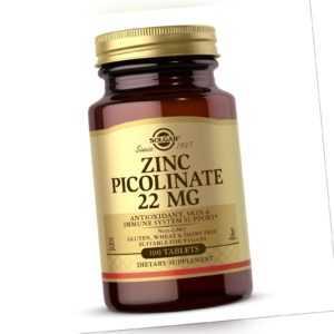 Solgar, Zinc Picolinate, 22mg, 100 Vegane Tabletten - Blitzversand