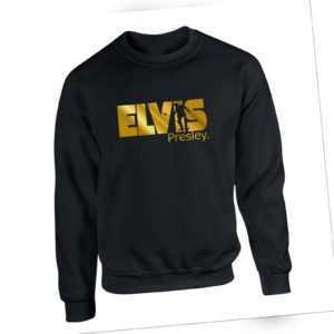 Elvis Presley Sweater Gold Print King Pop-Rock Music Fashion Unisex Sweatshirt