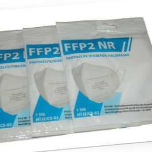 3 x FFP2 Maske Halbmaske FFP2 NR gemäß PSA-Verordnung (EU) 2016