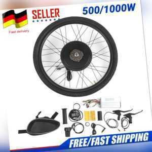 Profi 26Zoll LCD Hinterrad E-Bike Umbausatz Motor Conversion Kit 48V 500/1000W
