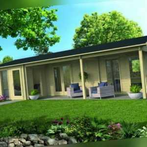 70 mm Gartenhaus ca. 1120x595 cm Blockhaus Schuppen Holzhaus Gerätehaus