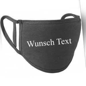 Stoffmaske waschbar Maske Personalisiert Wunschtext Neu Mund- Nasen- Bedeckung