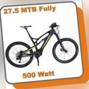 MTB Mountainbike Carbon Fully E-bike Raptor 500W Mittelmotor 48V 13,6ah Akku