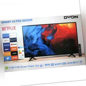"Dyon LED SMART TV mit HD-Triple Tuner 31,5"" 80cm Netflix HDMI USB Wifi S2/C/T2"
