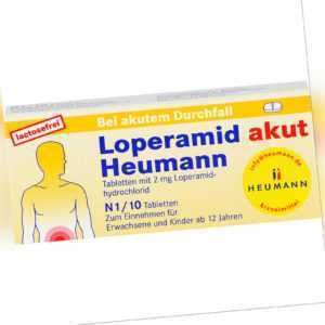 Loperamid akut Heumann Tabletten..., 10 St. Tabletten 4633535