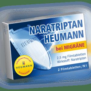 Naratriptan Heumann bei Migräne 2,5 mg 2 St FTA PZN:09542263