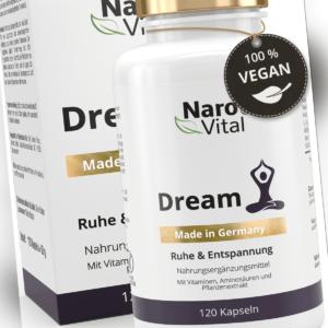 NaroVital® Dream Ruhe & Entspannung - L-Tryptophan, 5-HTP,, GABA & B-Vitamine