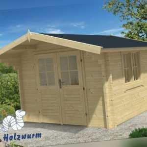 58 mm Gartenhaus 300x300 cm Blockhaus Gerätehaus Holzhaus Holz Schuppen