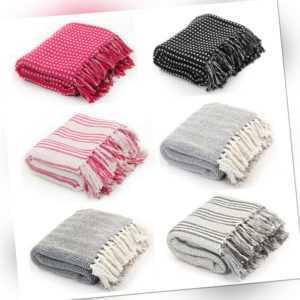 Umhängetuch Baumwoll decke Wohndecke Wolldecke Überwurf Baumwolle