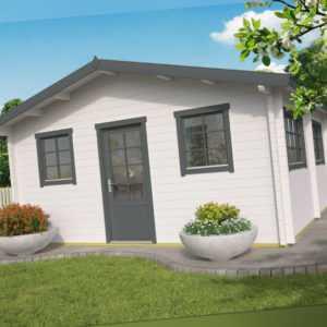 70 mm Ferienhaus ISO 4 Räume 534x540 cm Gartenhaus Holzhaus Gerätehaus Schuppen