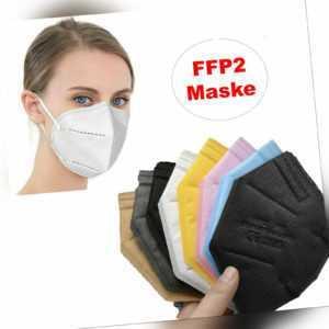 10x 20x Maske Atemschutzmask Mundschutz CE Gesichtsschutz FFP2  5x Grau