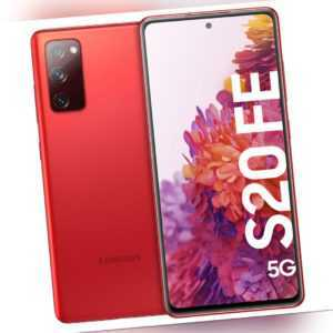 Samsung G781B Galaxy S20 FE, 5G, IP68 Schutzgrad, 128GB, Red,USB...