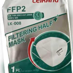 10× FFP2 LEIKANG Mundschutz zertifiziert  Atemschutz Masken einzeln verpackt