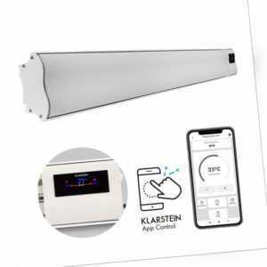 Heizstrahler Infrarot Terrassen elektro Heizer Wärme WiFi App Control 3000W weiß