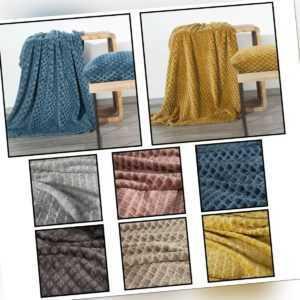 BELA Kuscheldecke Tagesdecke Wohndecke Decke Bettüberwurf Weich 3D