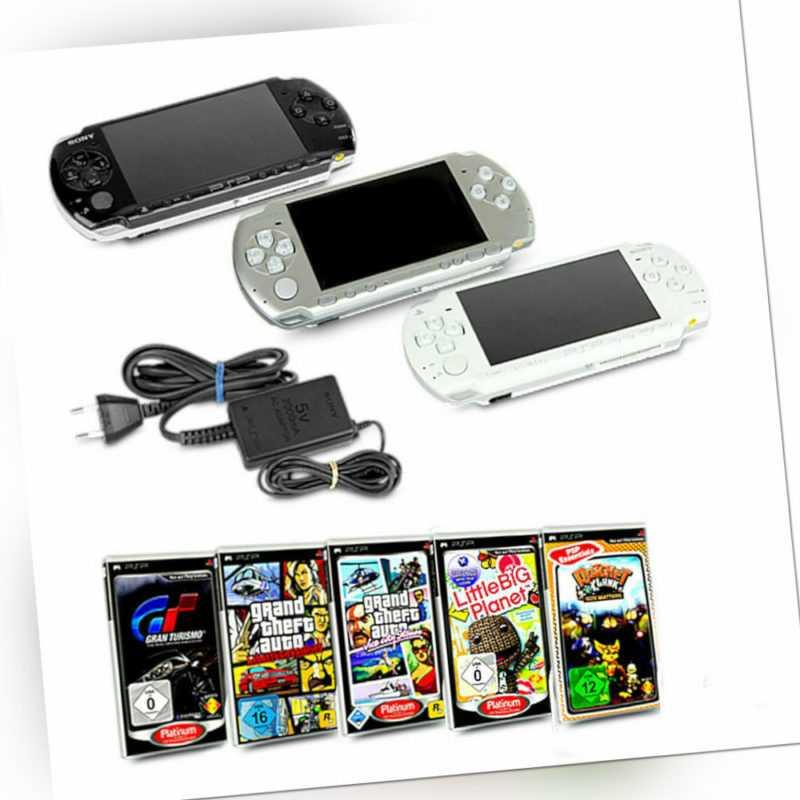 Playstation Portable Handheld Konsole 2004 Silber Schwarz Weiß + Spiel wählbar