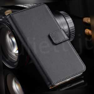 New Black Leather Flip Wallet Phone Case Cover Sony Samsung Apple...