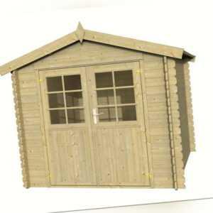 Palmako Gartenhaus PILA 250x250cm, 28mm Wandbohlen, Gerätehaus, ohne Boden