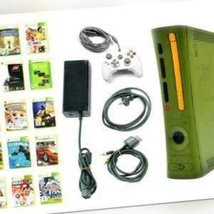 Microsoft Xbox 360 Konsole - BUNDLE HALO 3 DESIGN +Spiele +Controller (XH3L)