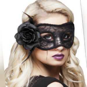 Augenmaske Spitze Mystique Black Spitzenmaske Venezianisch schwarz Fasching Neu