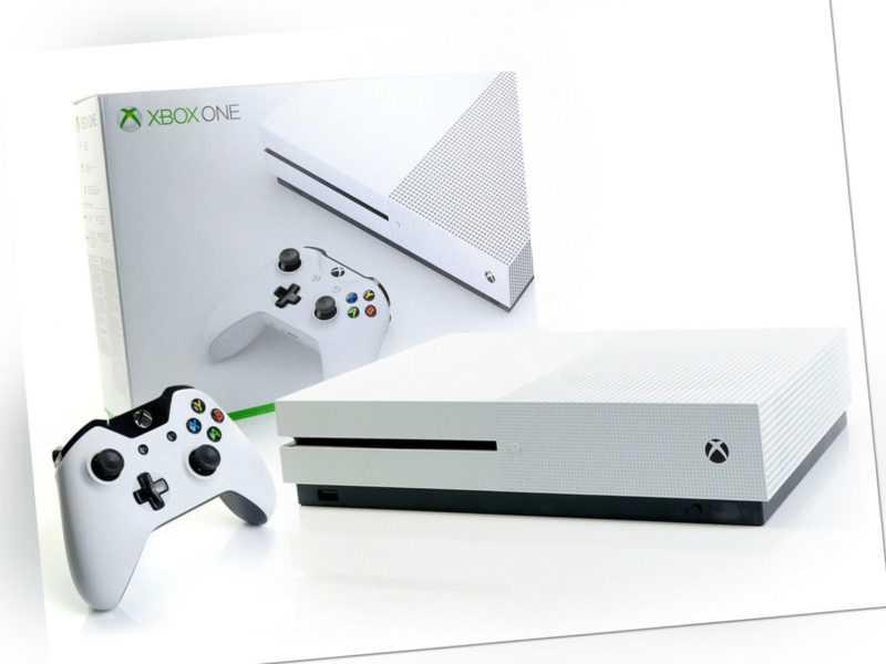 Microsoft XBOX ONE S Konsole 500GB Weiss + Controller Spielkonsole