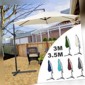 Sonnenschirm Neigbar Ampelschirm Marktschirm UV30+ Gartenschirm Ø350cm Ø300cm