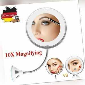 DE 10-fach Vergrößerung LED Schminkspiegel Kosmetikspiegel mit Saugnapf Spiegel