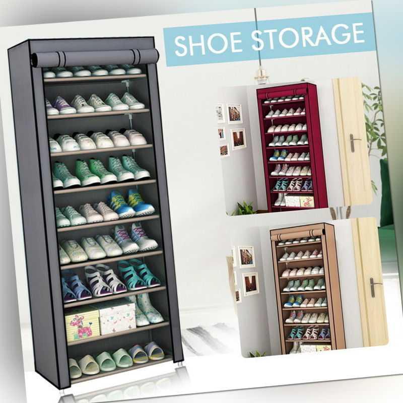 10-Schicht Schuhschrank Schuhablage Schuhregal Schuhständer Vliesstoff DHL Neu