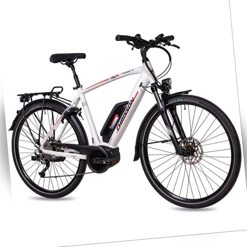 28 Zoll E-Bike Citybike Herren CHRISSON E-ROUNDER 9G Shimano BOSCH Active-Line