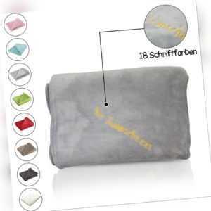 Kuscheldecke, individuell bestickt, personalisiert, Decke mit