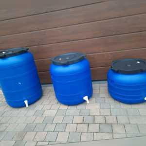 Weithalsfass 100l-200l Futtertonne Fasssilage Kunststoff Regen Fass mit Zapfhahn