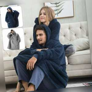 Decke Unisex Warm Sweatshirt Plüsch Hoodie Übergroße Nachtwäsche