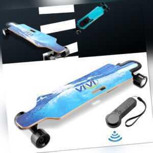 350W Elektro Skateboard Longboard mit Fernbedienung Doppelmotor 30km/h E-Board