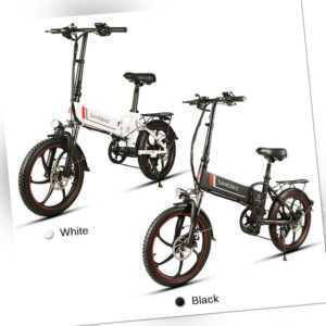 Samebike 20 Zoll Klappbares Elektrofahrrad Power Assist E-Bike 350W Motor 35km/h