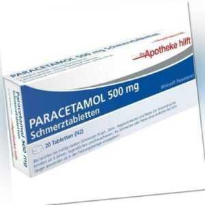 PARACETAMOL 500mg Die Apotheke hilft bei Schmerzen 20 Tabletten PZN: 14190197
