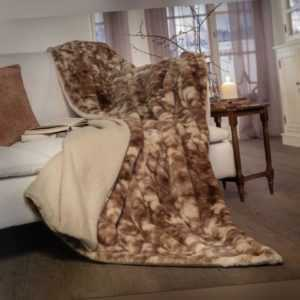 Kuscheldecke Felloptik Decke Tagesdecke Fleecedecke Sofa Couch