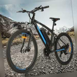 "E-BIKE Elektrofahrrad 27,5"" Mountainbike Herren Shimano Pedelec 10AH LI-ION AKKU"